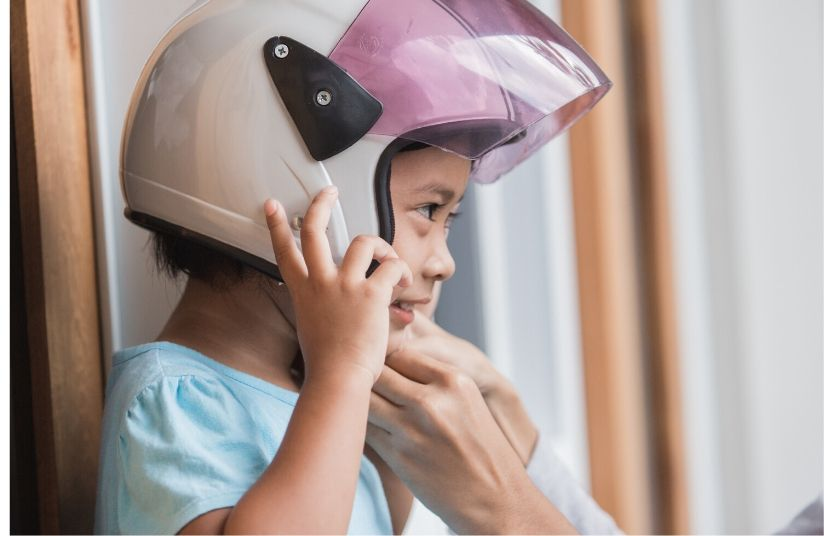 Child Motorcycle Helmet Size Chart